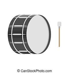 baguette, tambour, illustration