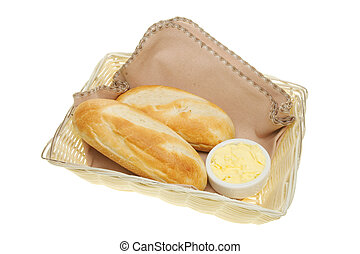 Baguettes in a basket