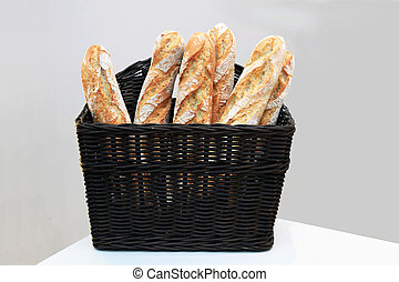 Baguettes in the basket