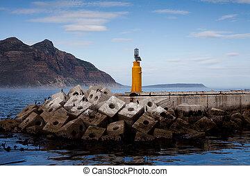 bahía de hout, rompeolas