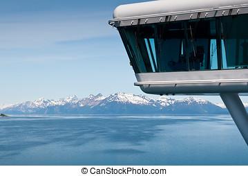 bahía glaciar parque nacional, en, alaska