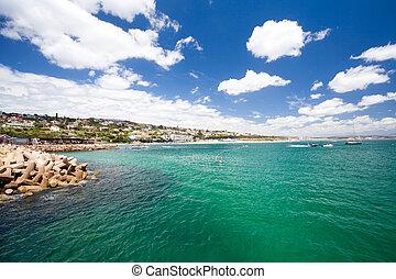 bahía, mossel, áfrica, sur
