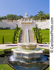 Bahai gardens - The Bahai gardens in Haifa north Israel
