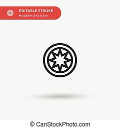 Bahai Simple vector icon. Illustration symbol design template for web mobile UI element. Perfect color modern pictogram on editable stroke. Bahai icons for your business project