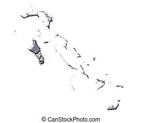 Bahamas 3D Silver Map