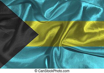Bahamas flag 3D illustration symbol