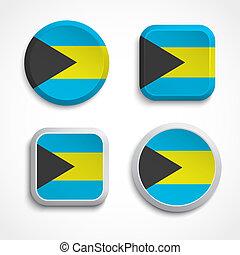 Bahamas flag buttons