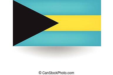 Bahamas Flag - Official flag of the Bahamas.