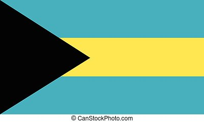 bahamas Flag for Independence Day and infographic Vector illustration.