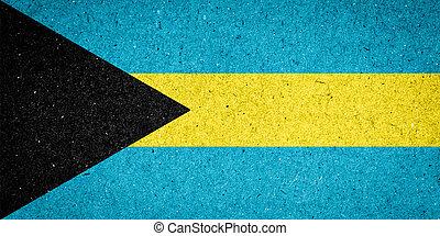 Bahamas flag on paper background