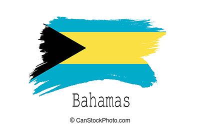 Bahamas flag on white background