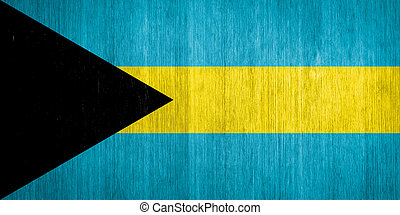 Bahamas Flag on wood background