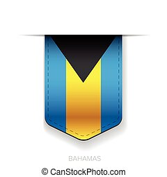 Bahamas flag ribbon vector