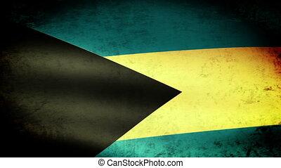Bahamas Flag Waving, grunge