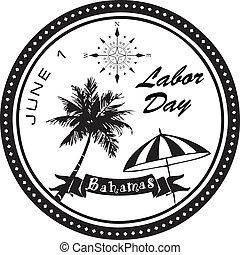 bahamas, giorno, lavoro