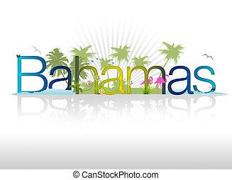 "High resolution graphic of ""bahamas""."