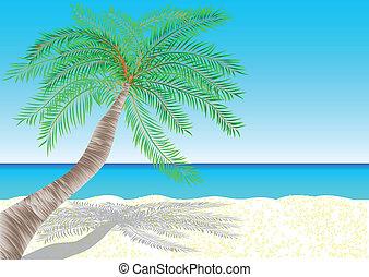 bahamas. tropical white sand beach. 10 EPS