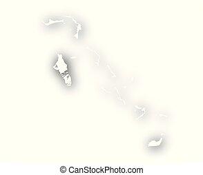 bahamas, mappa, uggia