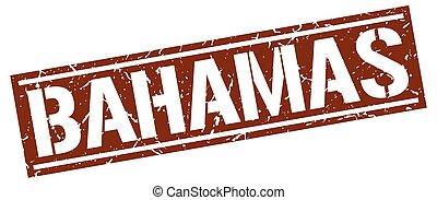 bahamas, marrone, quadrato, francobollo