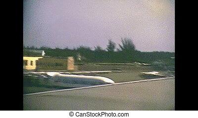 Bahamas Nassau airport - Airplane landing in Lynden Pindling...