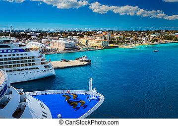 bahamas, nassau, bateau, indulgence, croisière