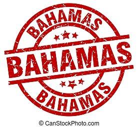 Bahamas red round grunge stamp