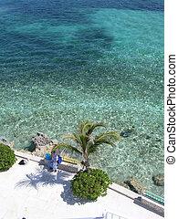 bahamas, rivage, 2