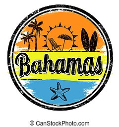 Bahamas sign or stamp