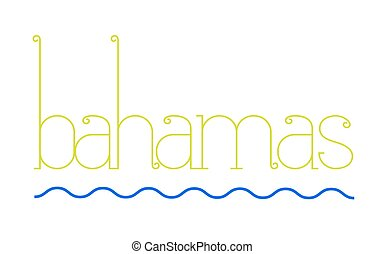BAHAMAS sticker stamp