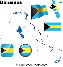 Bahamas vector set.