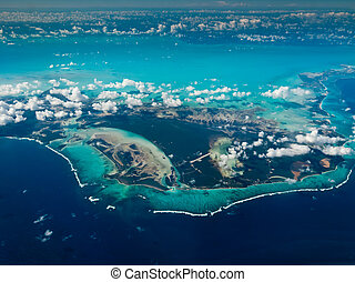 bahamas, vista aérea