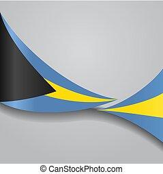 Bahamas wavy flag. Vector illustration. - Bahamas flag wavy...