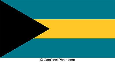 Bahamian Flag of Bahamas
