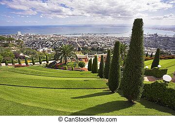 Bahay gardens and Mediterranean sea