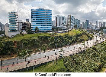 bahia, barra, ブラジル, サルバドール, 光景, 建物