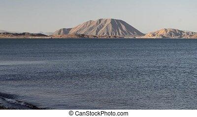 Bahia de Los Angeles, Baja California, Mexico, shot across ...
