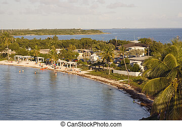 Bahia Honda State Park seen from above.