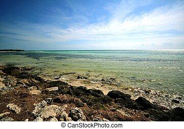 Bahia Honda National Park, Florida Keys, Florida, USA. Rocky...