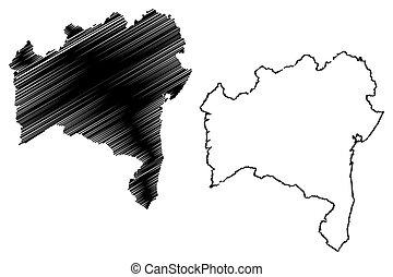 Bahia map - Bahia (Region of Brazil, Federated state, ...