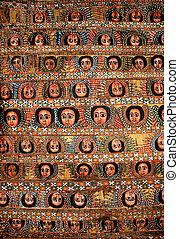 bahir dar ethiopia painted church ceiling