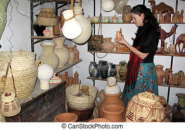 Bahla Pottery Market in Oman in the Middle East.