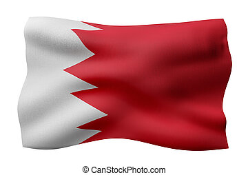 Bahrain 3d flag