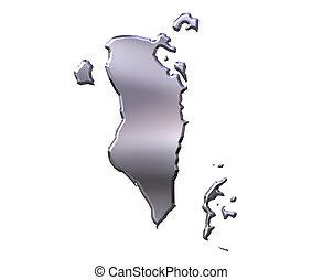 Bahrain 3D Silver Map
