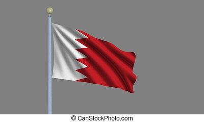 bahrain, alfa, matte, vlag