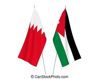 Bahrain and Hashemite Kingdom of Jordan flags