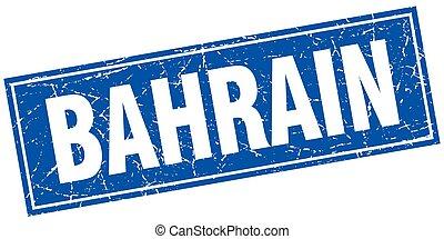 Bahrain blue square grunge vintage isolated stamp