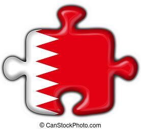 bahrain, bottone, bandiera, puzzle, forma