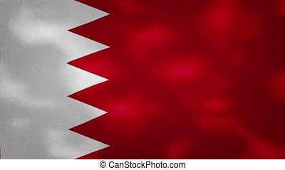 Bahrain dense flag fabric wavers, background loop