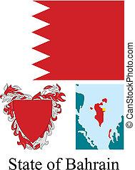 bahrain, drapeau état