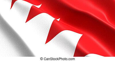 bahrain flag 3d